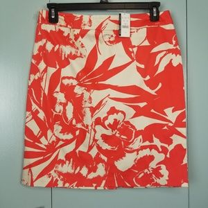 New York & Company Orange printed skirt sz 10 -C9